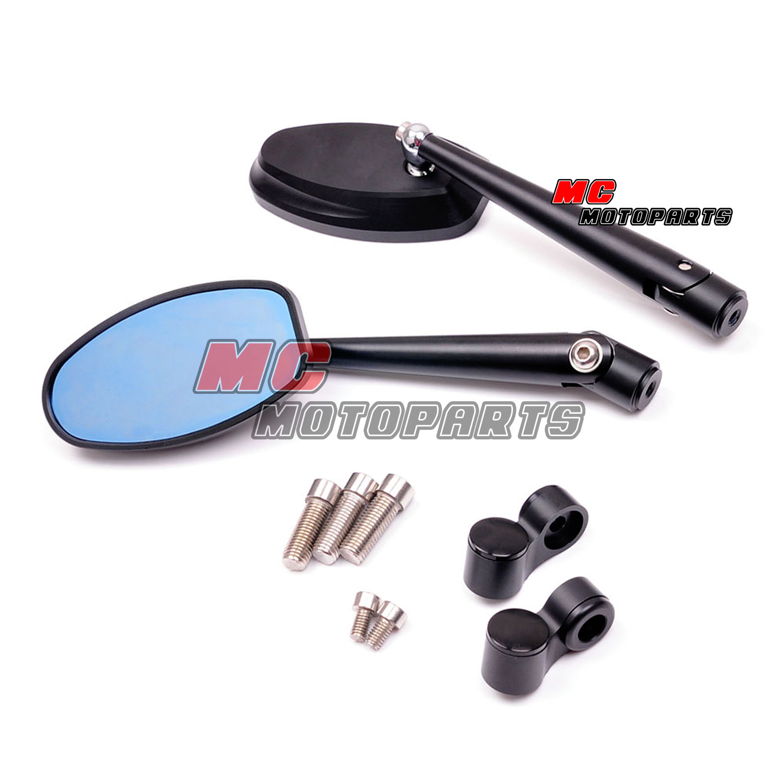 Black dynamic cnc side view mirrors ducati monster m900 for Mirror 750 x 900