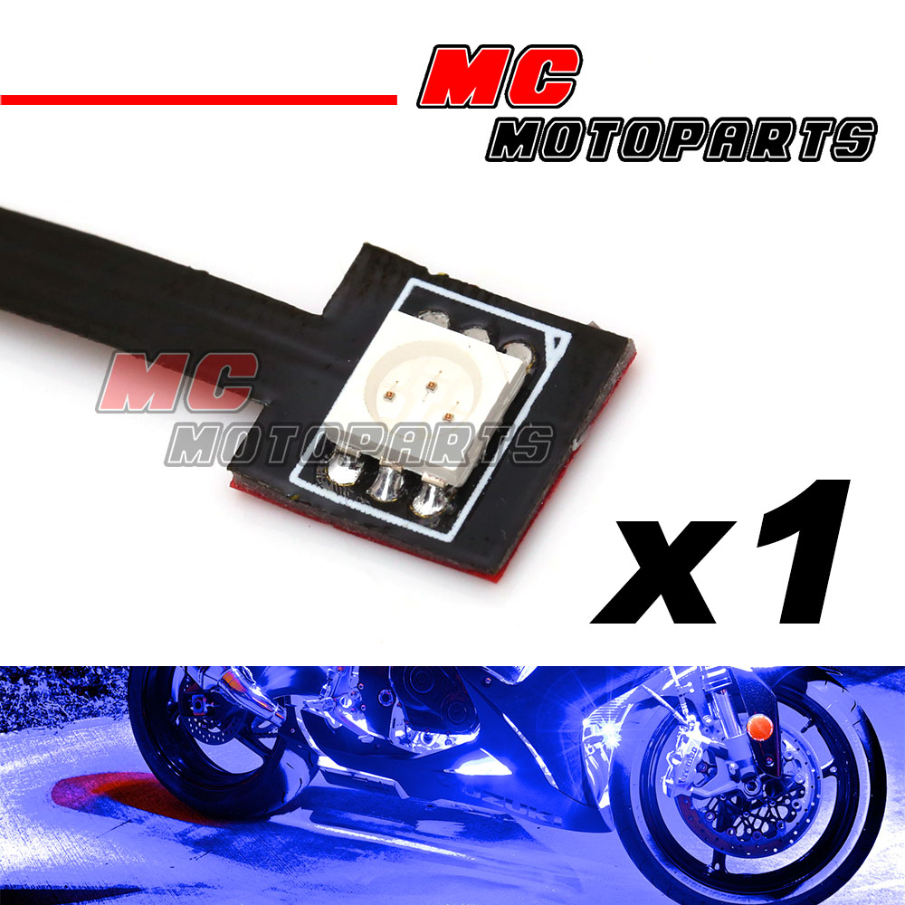 blue tiny prewired smd led 5050 12v accent light for yamaha motorcycle. Black Bedroom Furniture Sets. Home Design Ideas