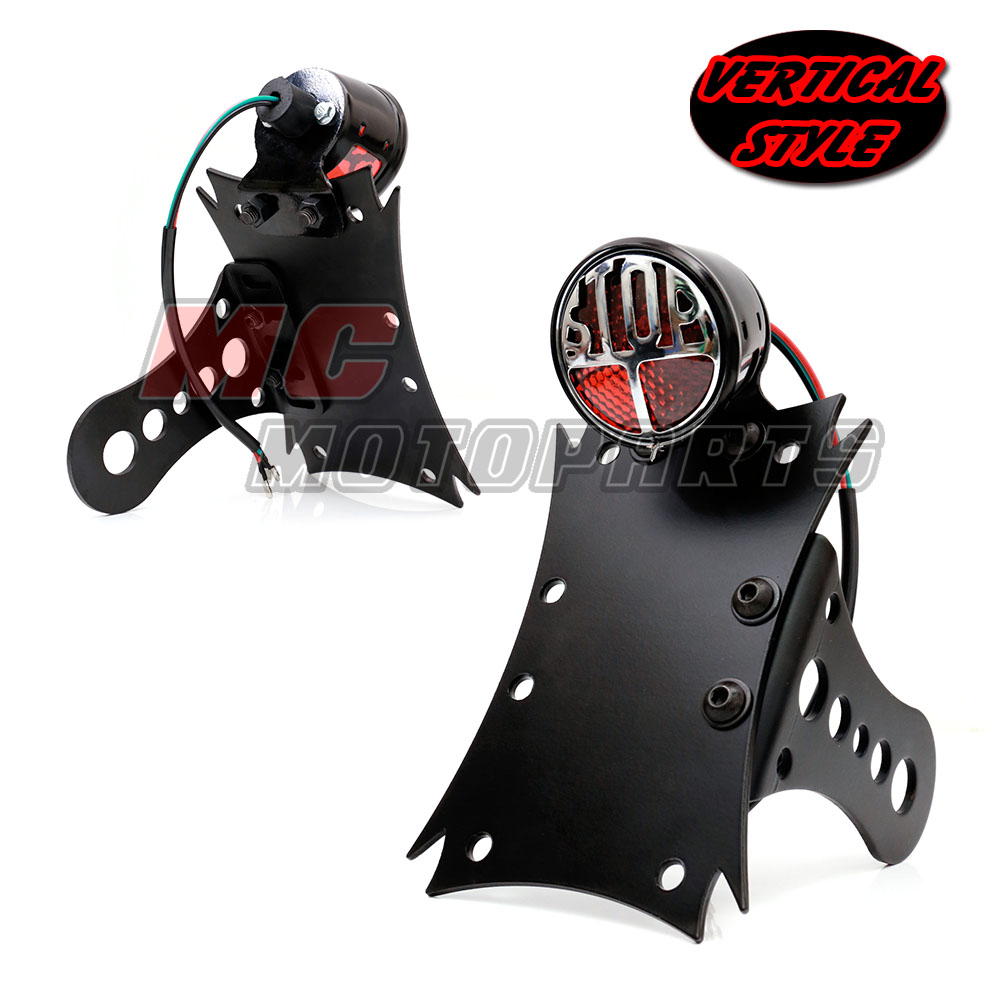 Side Mount STOP Tail Light License Plate Bracket XS650 ...